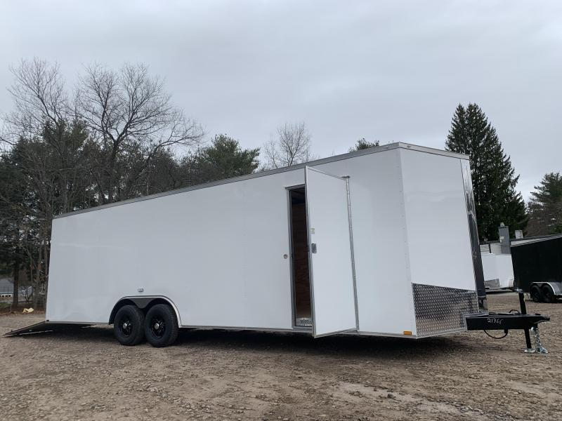"2021 Spartan 8.5X26+2ft V trailer/12"" extra height/9990gvwr/undercoated"