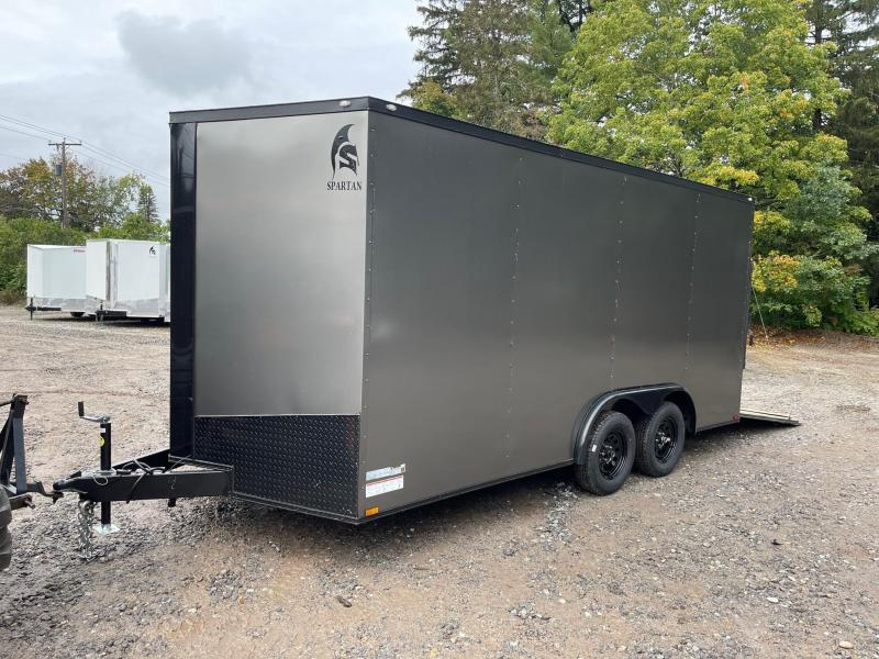 """2022 Spartan 8.5X16 +2ft V trailer/12"""" extra height/Blackout trim package/undercoated"""