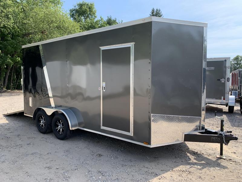"2021 Spartan 7X16 +2ft V trailer/two-tone/12"" extra height/undercoated"