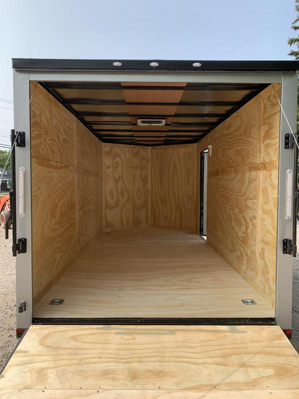 "2021 Spartan 7x14 +2ft V-nose/6"" extra height Enclosed trailer"