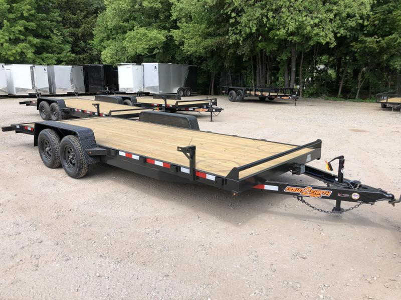 2020 Down 2 Earth 7x20 open Car Hauler/7000gvwr