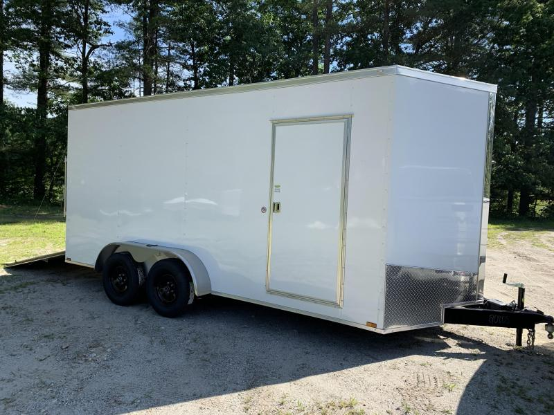 "2021 Spartan 7X16 +2ft V trailer/12"" extra height/undercoated"