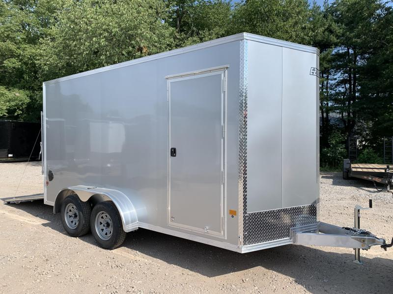 "2021 EZ Hauler 7X14 +2 ft V-Nose Aluminum trailer / 12"" extra height"