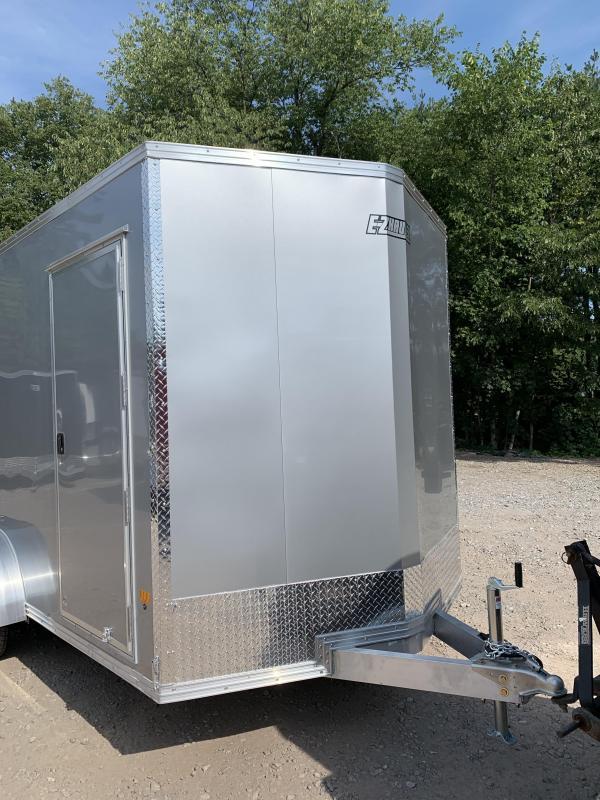 "2021 EZ Hauler 7X14 +2 ft V-Nose Aluminum trailer / 12"" extra height"