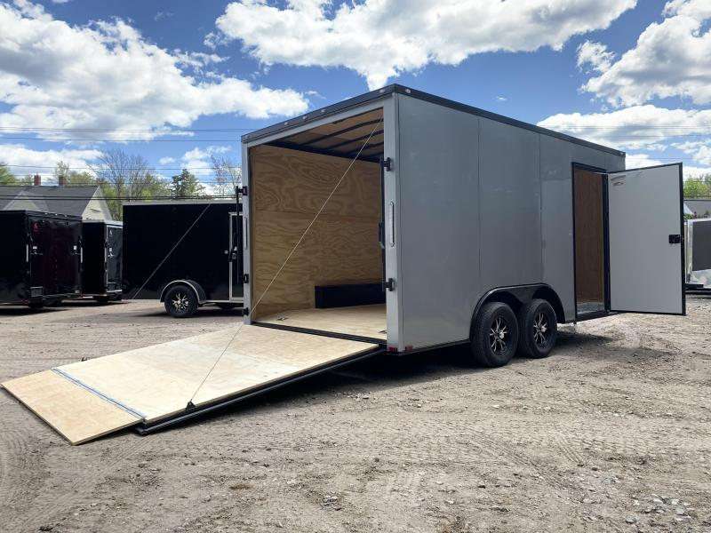 """DENT SALE* 2021 Spartan 8.5X16 +2ft V trailer/12"""" extra height/undercoated"""