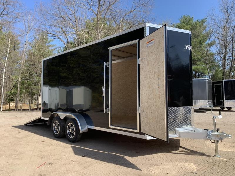 "2021 EZ Hauler 7X16+2 ft V-Nose Fully aluminum trailer/12"" extra height"