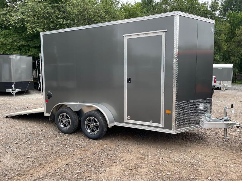 """2021 EZ Hauler 7X12 +2 ft V-Nose Fully Aluminum trailer/12"""" extra height"""