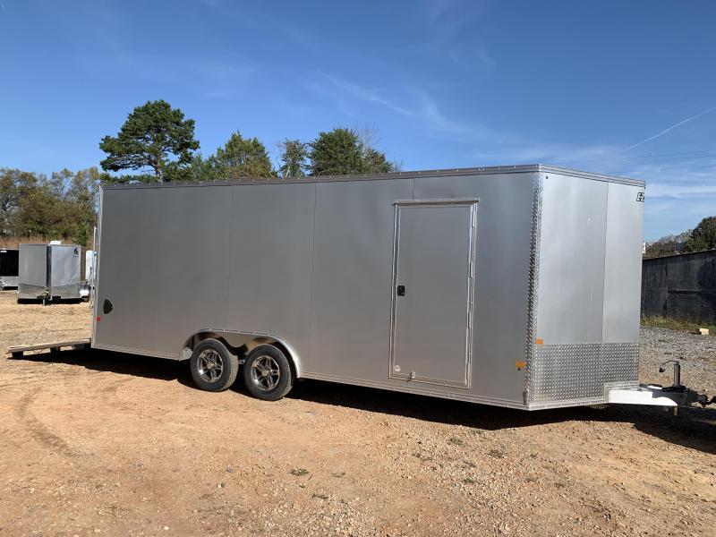 "2021 EZ Hauler 8.5x20 +3 ft V-nose/ FULLY Aluminum Car Hauler/7000gvwr/12"" extra height"