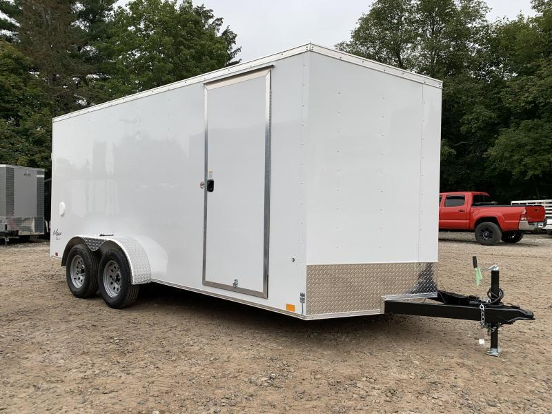 2021 PACE American 7X16 +2ft V-nose/ 7' interior/undercoated