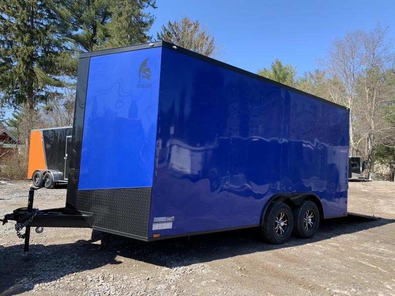 "2020 Spartan 8.5X16 +2ft V trailer/12"" extra height/blackout"