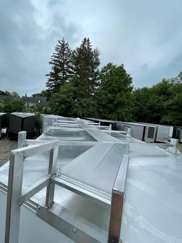 "2021 EZ Hauler 8X16 +3 ft V-Nose Aluminum trailer / 12"" extra height/ Ultimate Contractor"