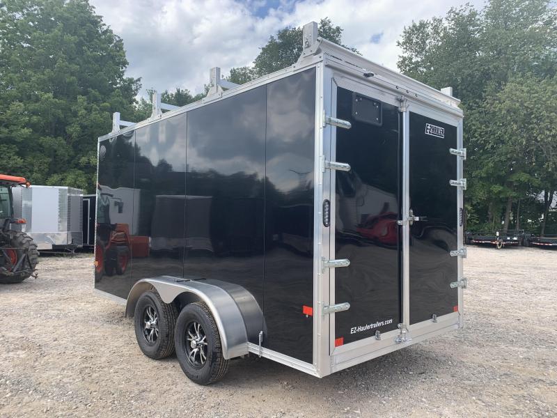 2021 EZ Hauler 7X14 +3 ft V-Nose Aluminum trailer/ Ultimate Contractor