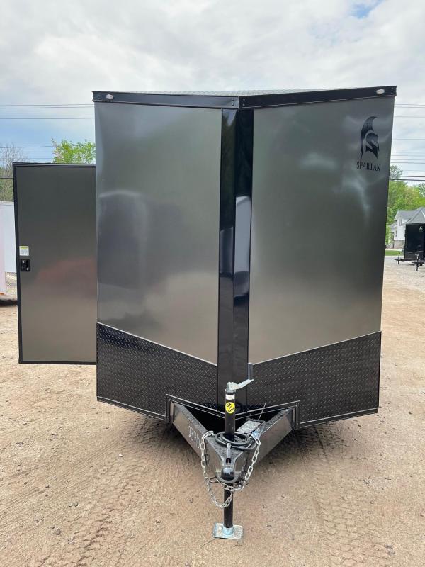 """2021 Spartan 7x16 +2ft V-nose/Blackout trim/12"""" extra height/7000gvwr"""