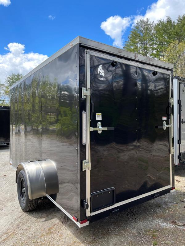 """2021 Spartan 6x12 +2ft V-nose trailer/6"""" extra height/undercoated/2990gvwr"""