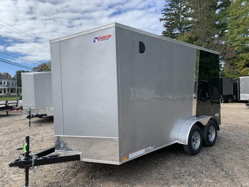 2022 PACE American 7X14 +2ft V-nose/ 7' interior/undercoated