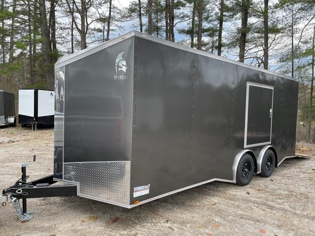 "2021 Spartan 8.5X20+2ft V trailer/12"" extra height/9990gvwr/undercoated/escape door/torsion"