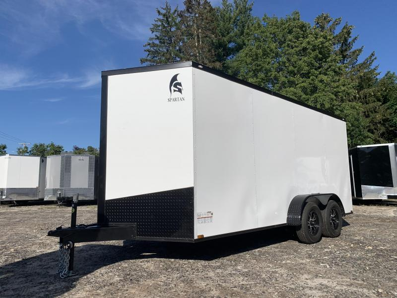"""2022 Spartan 7x16 +2ft V-nose/6"""" extra height/ blackout"""