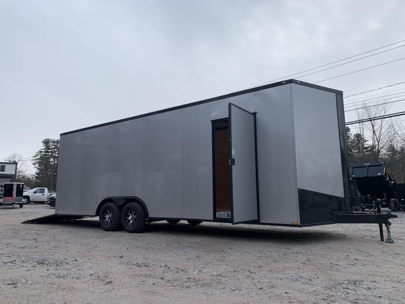 """2021 Spartan 8.5X24+2ft V trailer/blackout/18"""" extra height/undercoated/9990gvwr"""