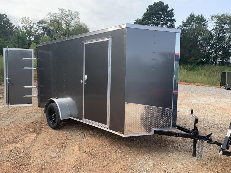 "2021 Spartan 6x12 +2ft Vnose 6"" extra height / double doors"