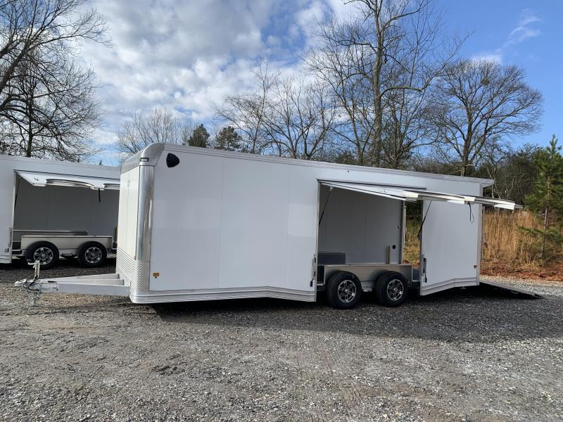 "2021 EZ Hauler 8.5x24 Aluminum Car Hauler/9990 gvwr/12"" extra height (financing)"