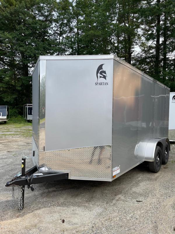 "2021 Spartan 7x14 +2ft V-nose/6"" extra height/Alum. wheels"