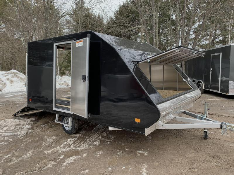 2021 Mission 101x12 Crossover Limited 2-Place Snowmobile Trailer-W/Track mats