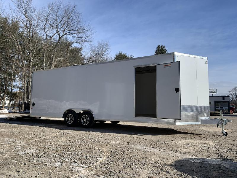 "2021 EZ Hauler 8.5x24 +3 ft V-nose/ FULLY Aluminum Car Hauler/9990gvwr/12"" extra height"