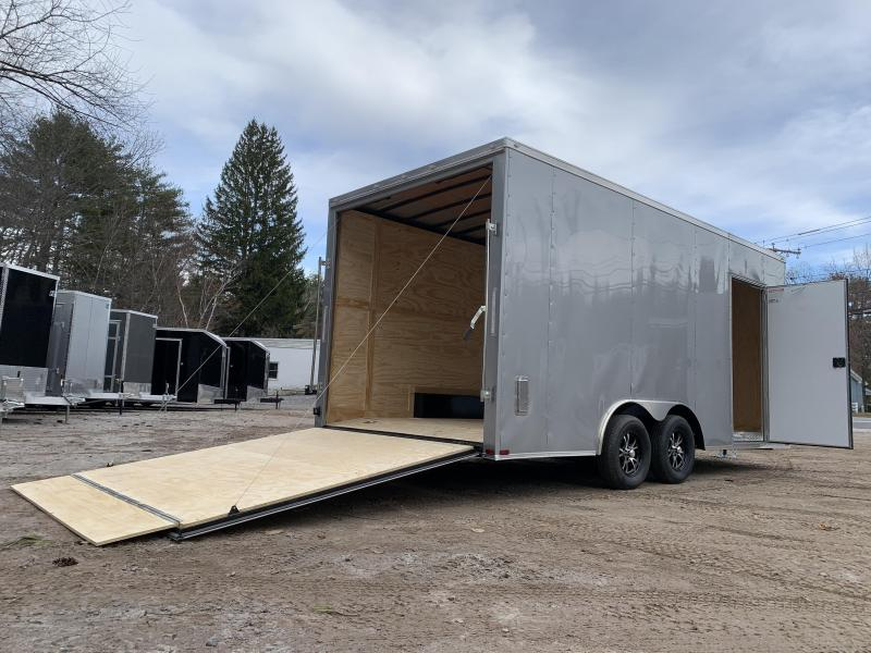 "2021 Spartan 8.5X18 +2ft V trailer/18"" extra height/undercoated/7000gvwr"