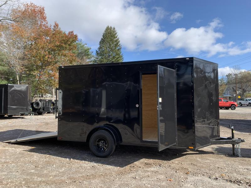 """2021 Spartan 7x12 +2ft V-nose/6"""" extra height/blackout"""