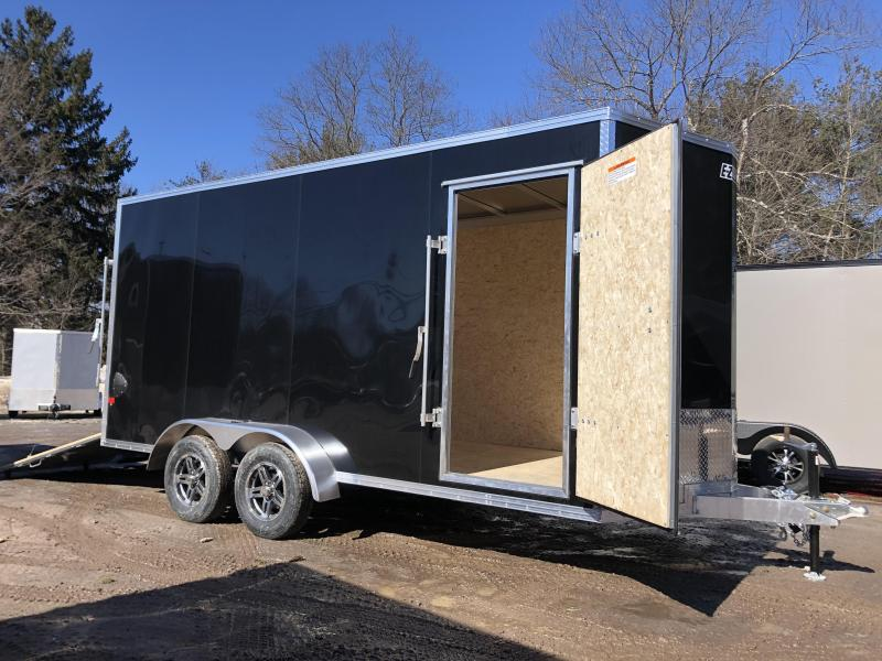 "2021 EZ Hauler 7X16 +2 ft V-Nose Aluminum trailer / 12"" extra height"