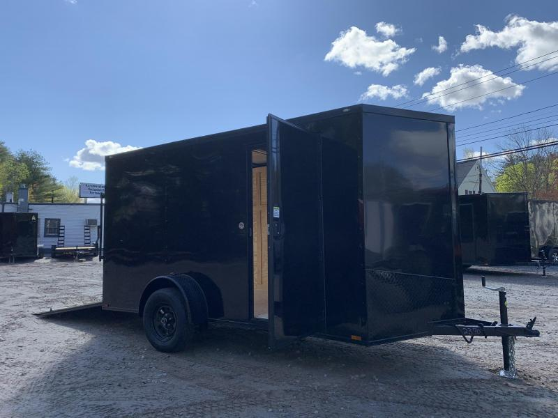"2021 Spartan 6x12 +2ft V-nose trailer/blackout trim/3"" extra height/undercoated/2990gvwr"
