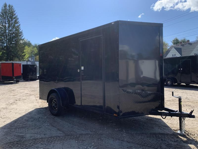 """2021 DING SALE* Spartan 6x12 +2ft V-nose trailer/blackout trim/3"""" extra height/undercoated/2990gvwr"""