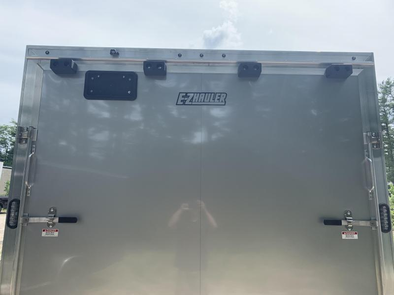 "2020 EZ Hauler 8.5x24 +3 ft V-nose/Aluminum Car Hauler/9990gvwr/12"" extra height"