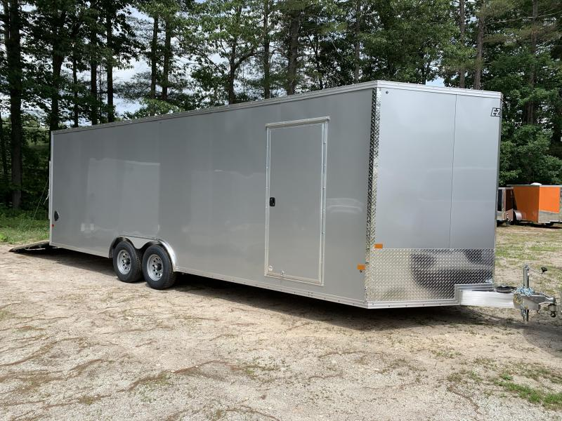 "2020 EZ Hauler 8.5x24 +3 ft V-nose/Aluminum Car Hauler/9990gvwr/12"" extra height"