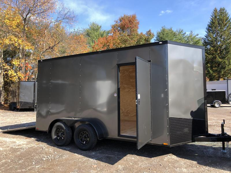 "2021 Spartan 7x14 +2ft V-nose/12"" extra height Enclosed trailer"