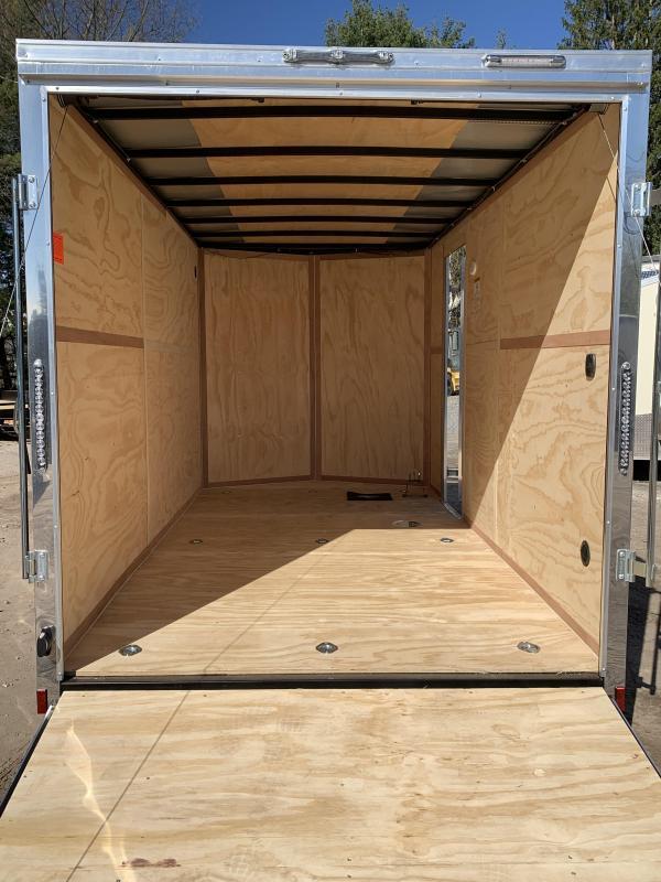 2021 Cargo Mate 7X14 +2ft V-nose 7' interior/Utv Package/Stabilizer jacks/7000gvwr
