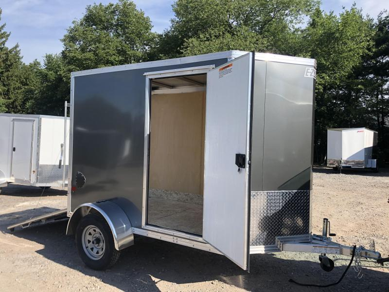2021 EZ Hauler 5X8 +2 ft V-Nose Aluminum trailer / 6' interior