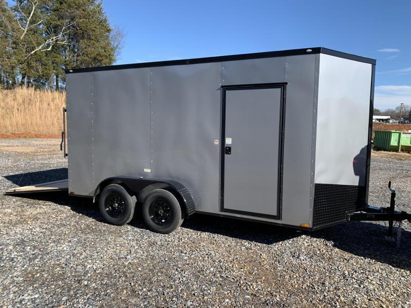 "2021 Spartan 7x14 +2ft V-nose/12"" extra/ Blackout trailer"
