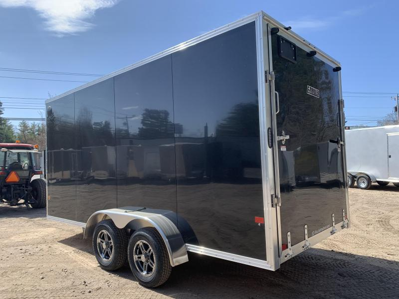 """2021 EZ Hauler 7X16+2 ft V-Nose DuraLite/Fully aluminum trailer/12"""" extra height"""