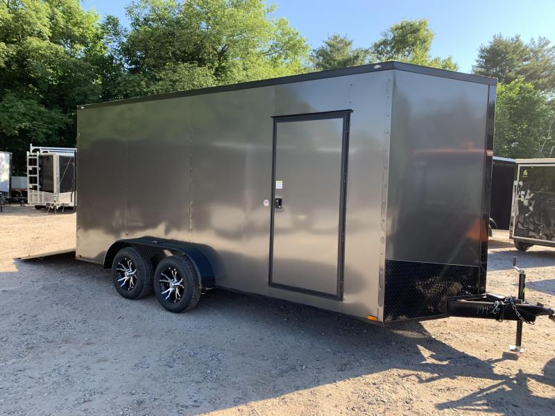 "2020 Spartan 7X16 +2ft V trailer Blackout/12"" extra height"