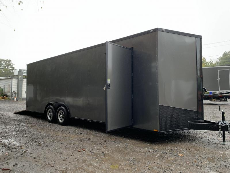 "2021 Spartan 8.5X24+2ft V trailer/12"" extra height/9990gvwr/undercoated"