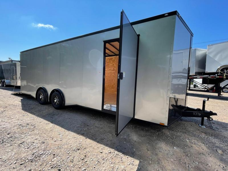 """2021 Spartan 8.5X24+2ft V trailer/12"""" extra height/9990gvwr/undercoated/torsion"""