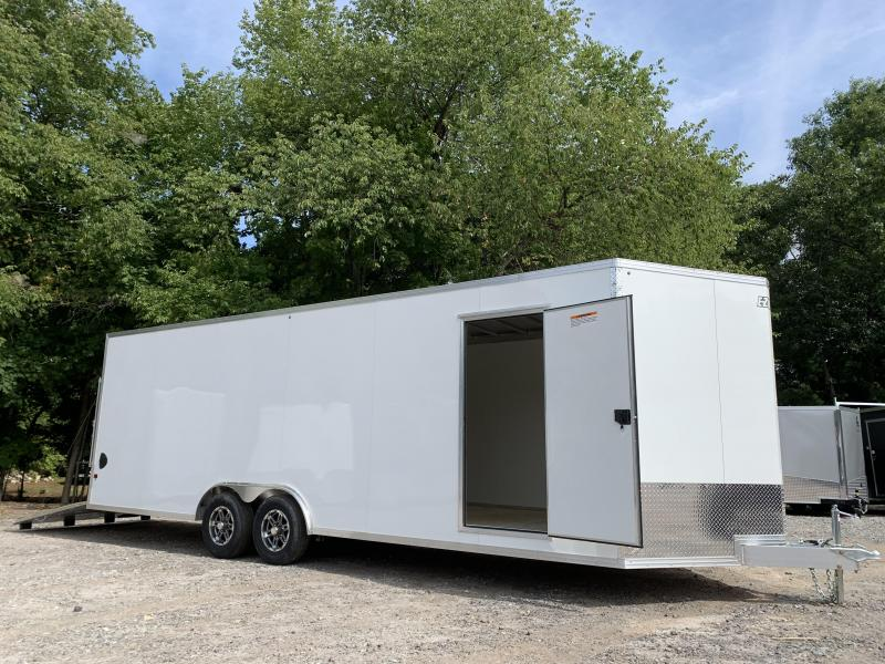"2021 EZ Hauler 8.5x24 +3 ft V-nose/Aluminum Car Hauler/9990gvwr/12"" extra height"