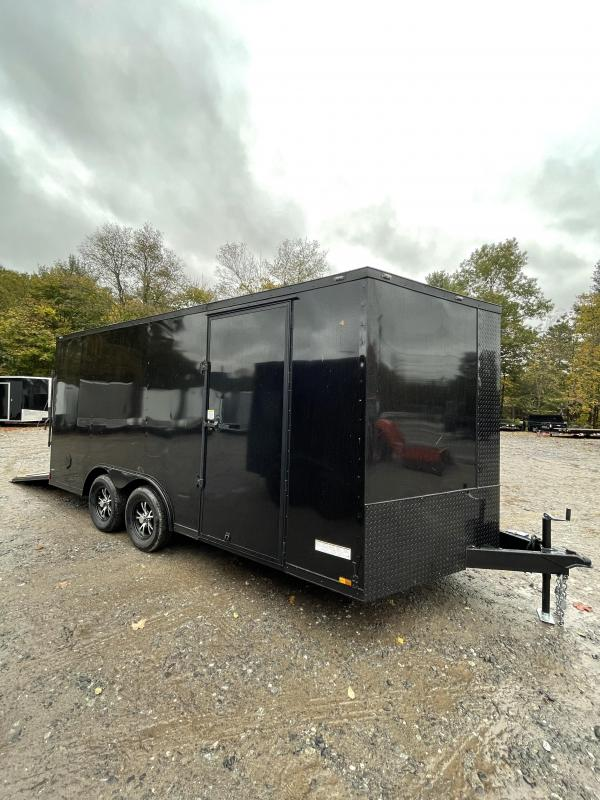 """2022 Anvil 8.5X16 +2ft V trailer/6"""" extra height/Blackout Package"""