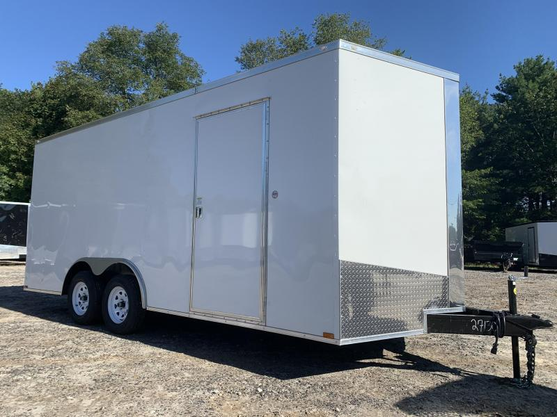"""2021 Spartan 8.5X18 +2ft V trailer/12"""" extra height/undercoated"""