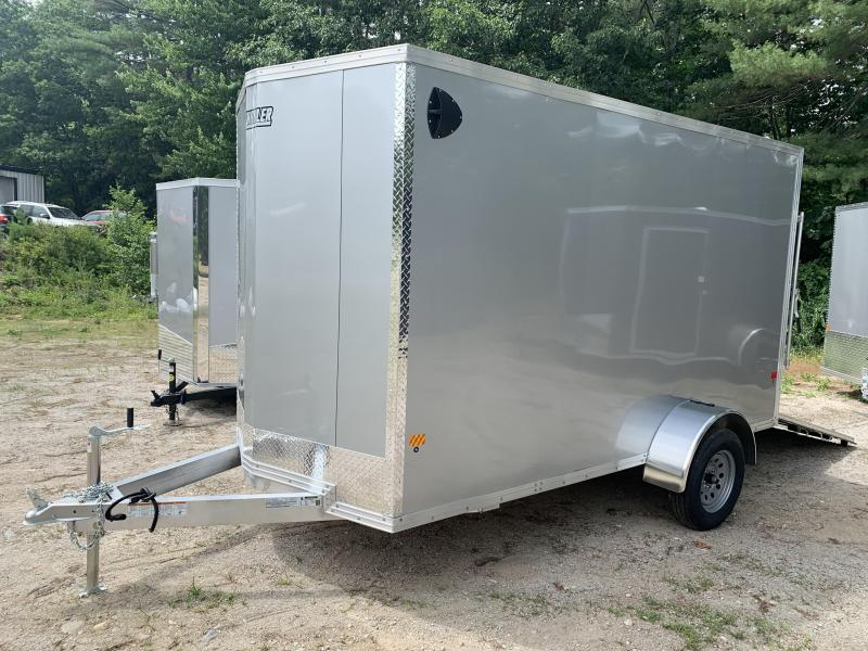 "2020 EZ Hauler 6X12 +2 ft V-Nose Aluminum trailer / 6"" Extra height"