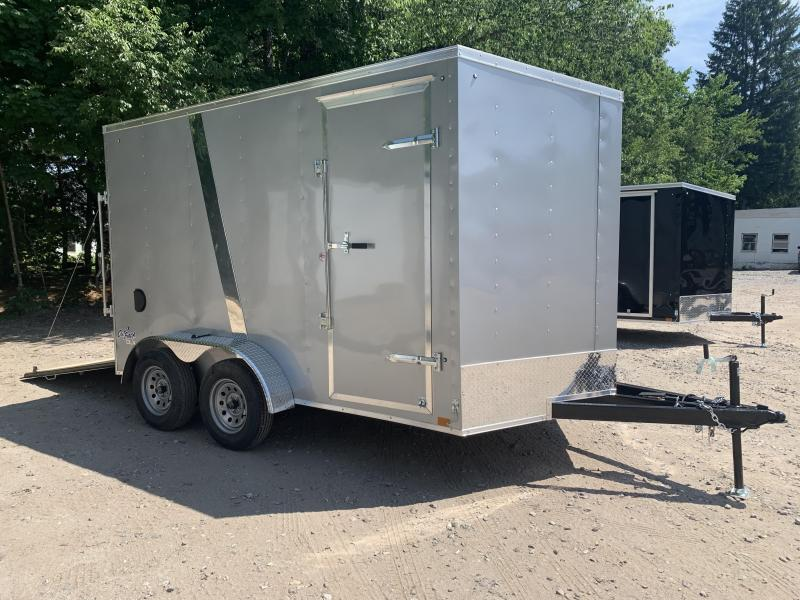 """2021 Pace American 7x12 +2ft v-nose/undercoated/12"""" extra height"""