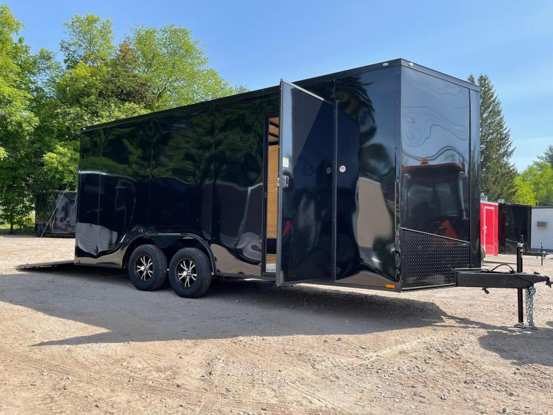 """202 Spartan 8.5X18 +2ft V trailer/12"""" extra height/Blackout"""