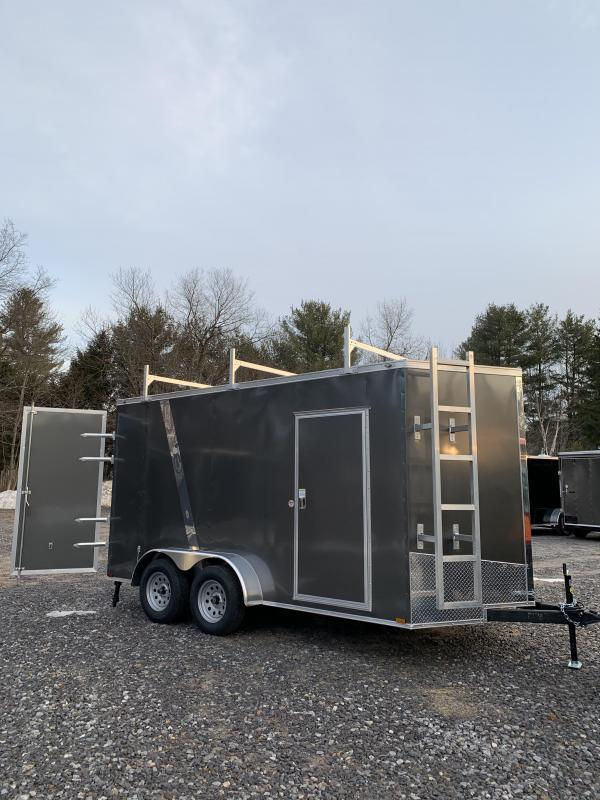 2020 Spartan 7x14 +2ft V Nose Trailer 110V pack / 7' interior