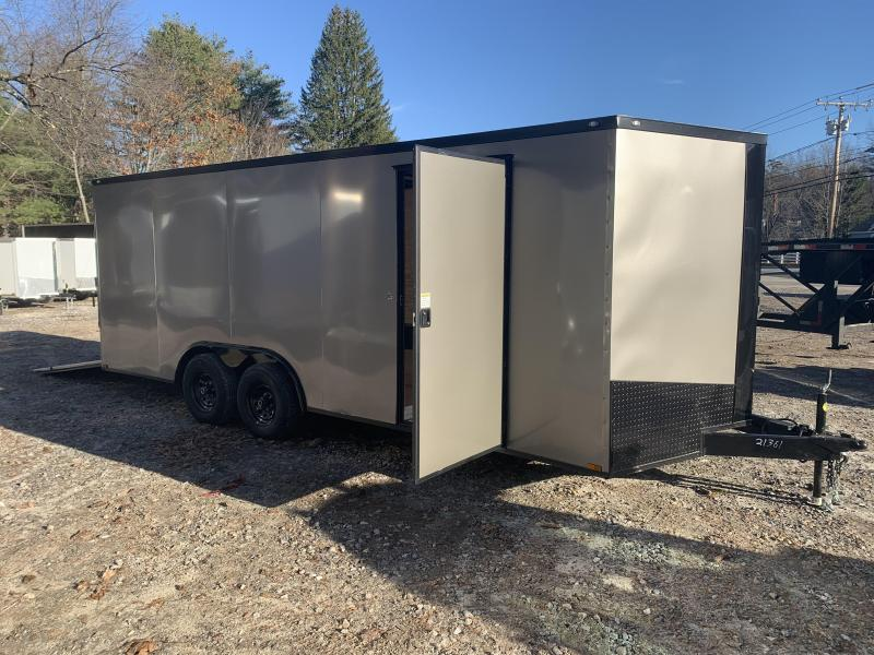 """2021 Spartan 8.5X20+2ft V trailer/6"""" extra height/9990gvwr/undercoated"""